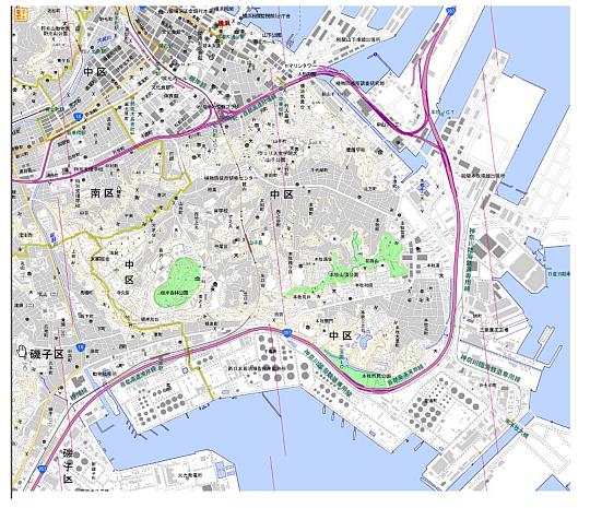印刷された地図