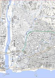 電子地形図A4縮小