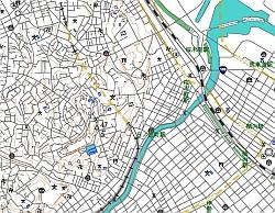SVG地図(道路一律化)