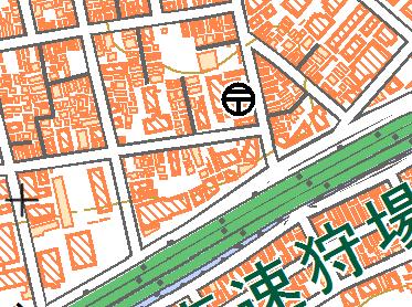 道路中心線の地図