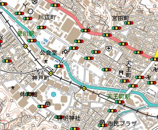 踏切・信号あり地図
