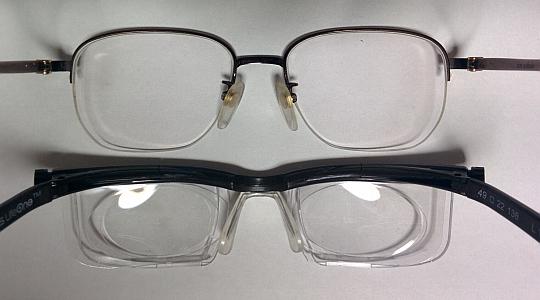 自分のメガネとの比較