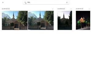 教会でフォト検索