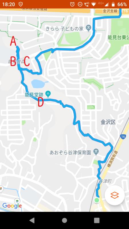六国峠GPSログ
